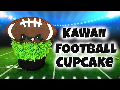 🏈DIY KAWAII FOOTBALL CUPCAKE TREAT