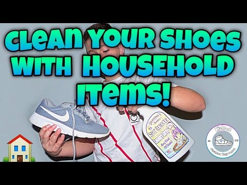 HOW TO CLEAN SHOES WITH HOUSEHOLD ITEMS!