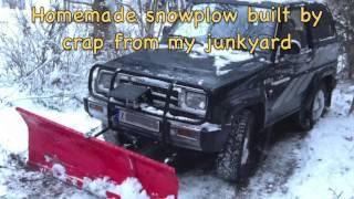 Homemade Snowplow built by junk - Arne Fehrm