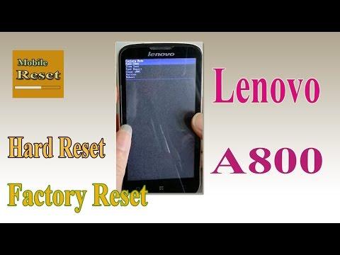 Hard reset Lenovo A800-Mobile reset.
