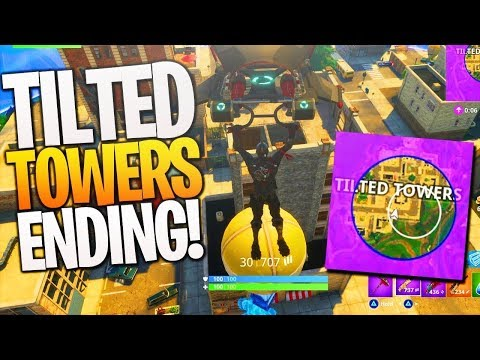 LAST DAY OF TILTED TOWERS! //FORTNITE BATTLE ROYAL