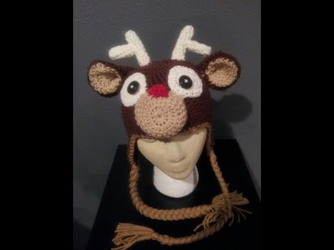 Tutorial Crochet Reindeer Hat