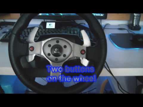 My PC Racing setup - Logitech G25 steering wheel [HD 720p]