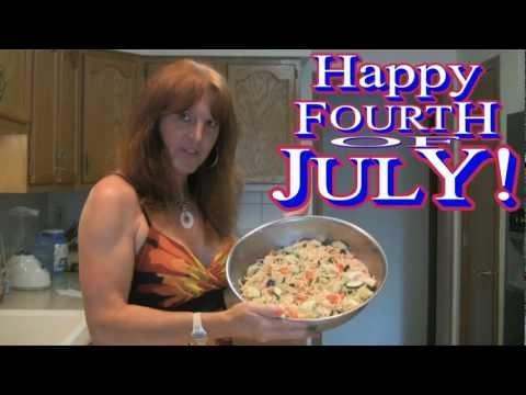 Making Cold Spaghetti Salad