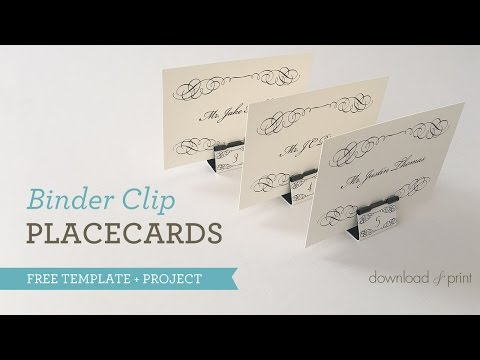 Binder Clip Place Cards VIDEO