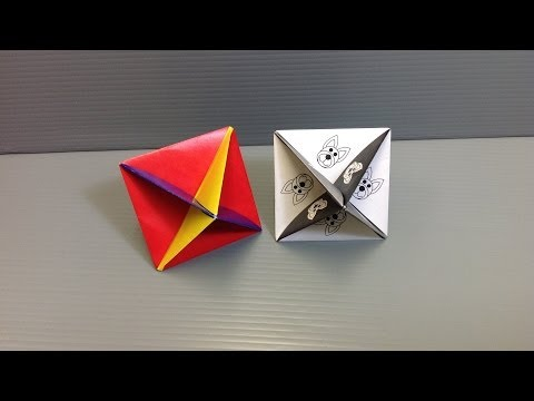 Print and Make Your Own Action Origami Spinning Top!