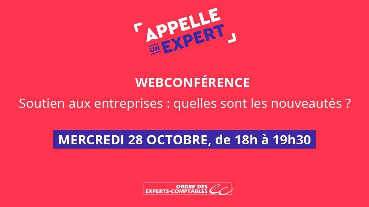 """Webconférence : """"Soutien aux entreprises : quelles sont les nouveautés"""""""