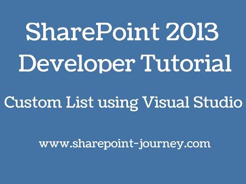 SharePoint 2013: SharePoint List using Visual studio 2012   SharePoint-Journey.com