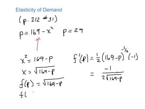 Elasticity (p. 212, #31)