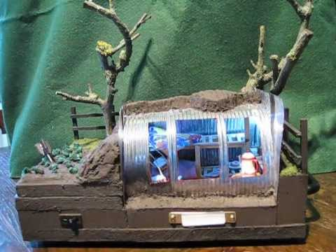 ANDERSON AIR RAID SHELTER SCHOOL PROJECT WW2 MODEL by METAMORPHICWONDERS