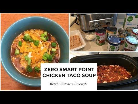 Weight Watchers Freestyle   Zero Point Ground Chicken Taco Soup