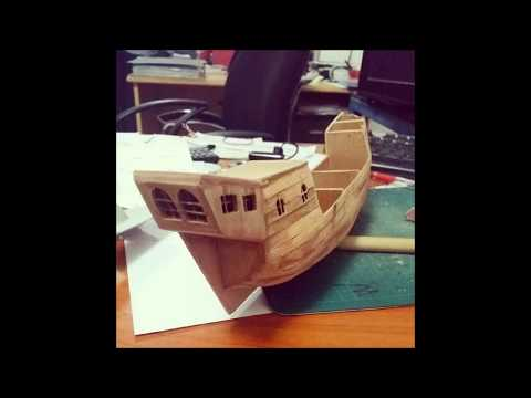 How to build a halfcut pirate ship model boat