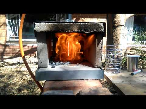 Home-made Gas Forge