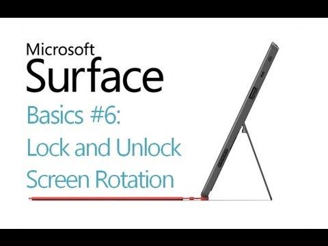 Surface RT Tips - Basics: #6 Screen Rotation Microsoft Windows 8