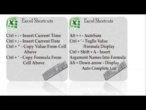 Excel : Excel Shortcuts Keys