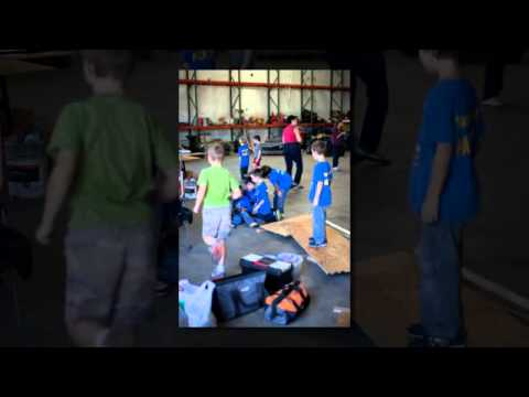 Cub Scout Pack 550 Christmas Float Build Day 1