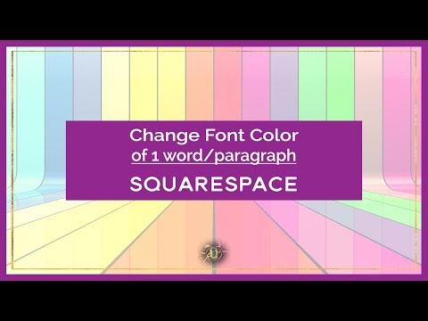How to change font color of only one paragraph or heading in SquareSpace
