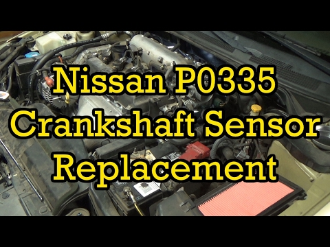 Nissan P0335 Crankshaft Position Sensor Replacement 2003 Altima 2.5 (2002-2006 Similar)