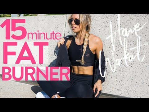 15min FAT BURNER WORKOUT | Full Body At Home HIIT Workout