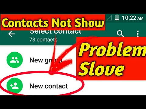 How to Fix Whatsapp Contacts Not Showing