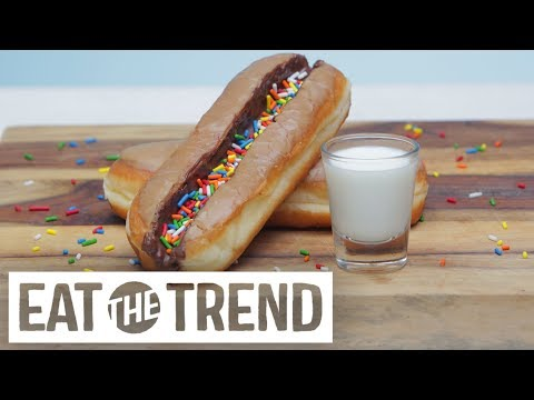 Doughnut Milk Luge | Eat the Trend