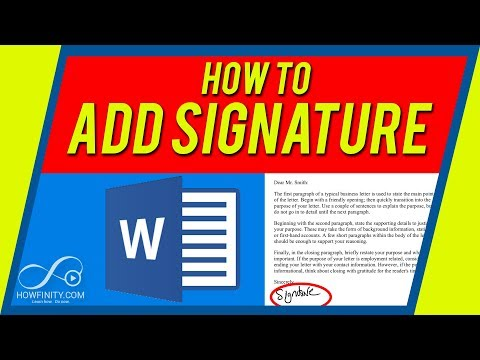 How to add a SIGNATURE to a Word doc on Mac