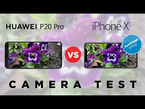 Huawei P20 Pro vs iPhone X Camera Test Comparison