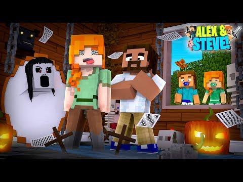 Minecraft BABY STEVE & BABY ALEX SPY ON ALEX & HER EVIL BOYFRIEND & FIND OUT THEIR BIG SECRET!!!