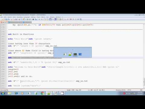 Unix shell scripting awk built in functions part 5