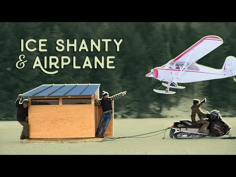 Airplane Almost Lands on Ice Shanty! -  Higher Elevations Adventures