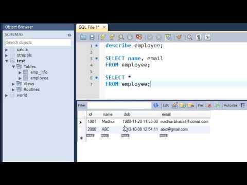 SQL Tutorial - 14: The SELECT Query