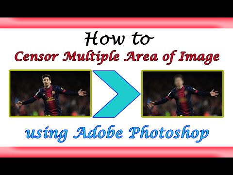 Censor Blur Multiple Area of Image  Learn How to   Photo Editing 
