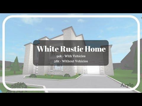 Roblox | Bloxburg: White Rustic Home (58k) (Desc)