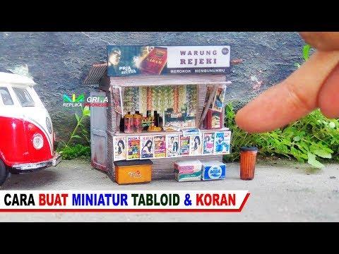 Cara Membuat Miniatur Koran & Tabloid utk Toko [Diecast Diorama Hotwheels]