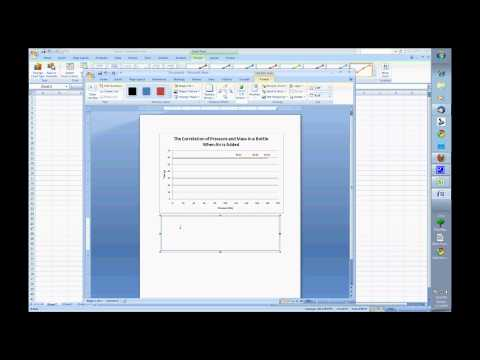 Video Tutorial for Making a Line Graph in Excel 2007