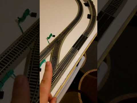 The trial track is done! Bachmann EZ track. 4x8 layout HO scale