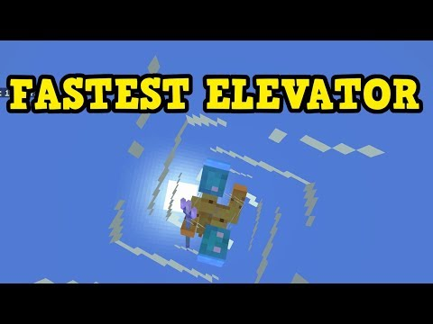 Minecraft TRIDENT Elevator - FASTEST Elevator In Xbox / PE