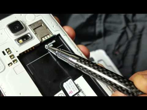 Galaxy S5: How to Insert / Remove Sim Card