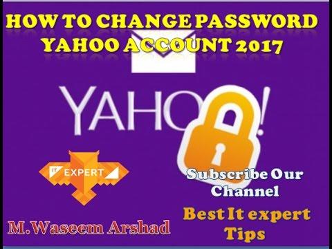 How To Change Password yahoo account 2017