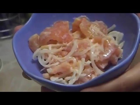 How to Make Fresh Tomato Onion Salad with Sour Cream - Salad Dressing Recipe with Sour Cream