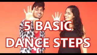 Easy HipHop dance steps - Part 1 | Vicky & Aakanksha