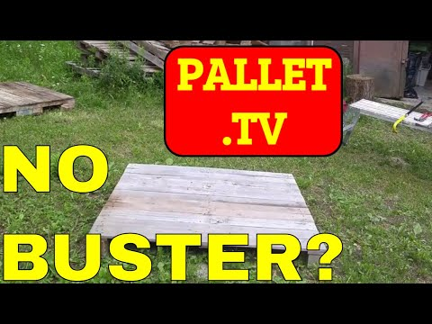 Dismantle Pallets without a Pallet Buster