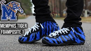 af48ad6e623 Nike Foamposite One Memphis Tiger Review   ON-FEET