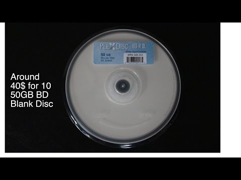 PlexDisc 50 GB (Double Layer) Bluray disc Burn my iTunes Library