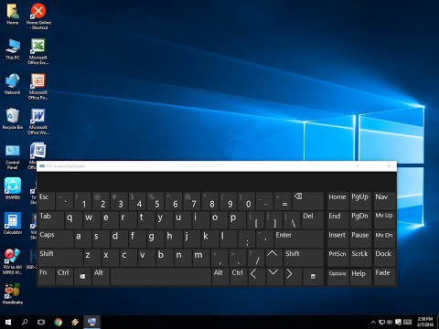 Shortcut key to Open On Screen & Touch Keyboard in Windows PC