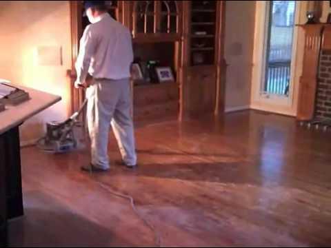 Dale's Hardwood Floors Buff Demo