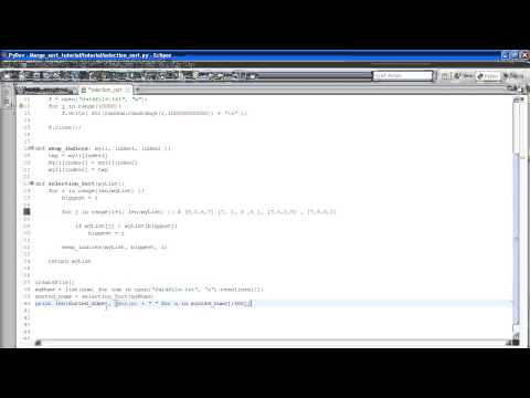 Python Algorithms For Beginners Tutorial 1 - Selection Sort and cProfile