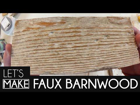 [Let's Make] Faux Barnwood