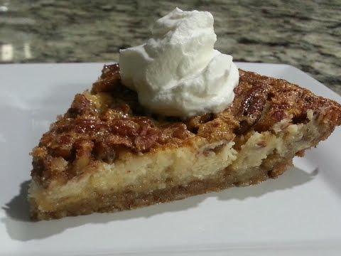 How to Make Pecan Pie Cheesecake with Almond Crust--Sooooo Good!