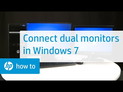 How to Connect Dual Monitors in Windows 7